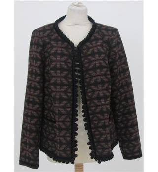 Monsoon size: 18 black mix aztec design smart jacket / coat