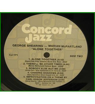 George Shearing, Marian McPartland ‎– Alone Together - Cj-171