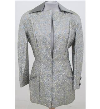 Size: M silver & gold evening jacket