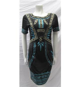 Parisian Collection Size S/M Black Sequin Dress