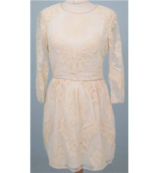 Dolce Vita Size:S cream long-sleeved silk mini-dress