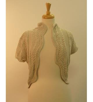 Soon (Monsoon) BNWT White/ Cream Short-Sleeved Cardigan SIze 12 Monsoon - Size: 12 - Taup - Cardigan