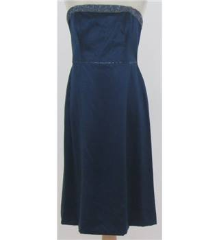 Monsoon - size: 12, blue strapless dress