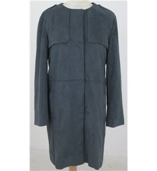 NWOT: Per Una Size 10: Grey smart faux suede coat