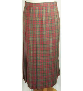 Vintage Gor -Ray Red Mix Check Skirt Size 18