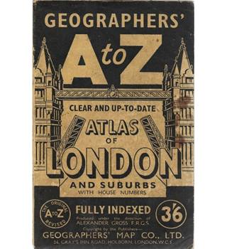 Geographer's A to Z Atlas Of London and Suburbs With House Numbers