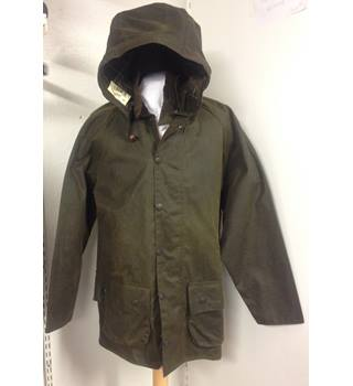 BNWT Barbour Classic Moorland Wax Jacket + Hood Barbour - Size: M - Green