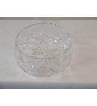 50% OFF SALE Beautifully crafted Crystal bowl similar in style and design to a Waterford Crystal Company item