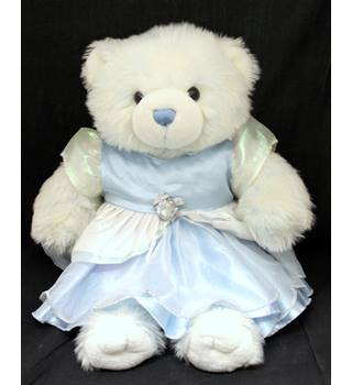 Build-A-Bear Workshop - White and light blue - Bear with a dress