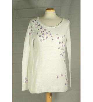 BNWT Debenhams Mantaray- Size: 8 - Women's White - Jumper
