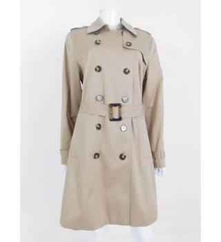 M&S Collection Size 18 Biscuit Belted Mac with Stormwear Technology