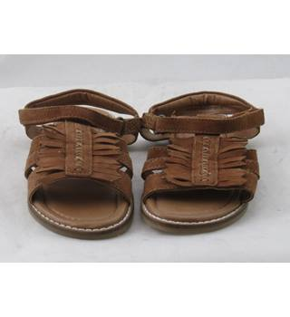 NWOT M&S Kids, size 11/29 brown suede fringed sandals