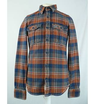 SuperDry - Size: S - Brown & Blue- Shirt