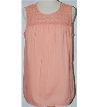 M&S Collection Size 14 Peach Sleeveless Top