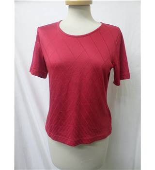 Gerry Weber - Size: 10 - Crimson, checked - Short sleeved top