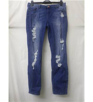 "Skye - Size: 32"" - Blue Denim - Distressed jeans"