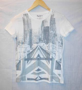 Pepe Jeans - Size: 12/152cm - White - Short sleeved T-shirt