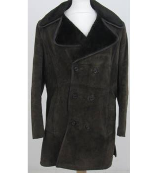 "Unbranded - Size: 44"" chest - Brown Suede Jacket"