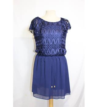 Chelsea Girl at River Island royal blue lace dress 12 River Island - Size: 12 - Blue