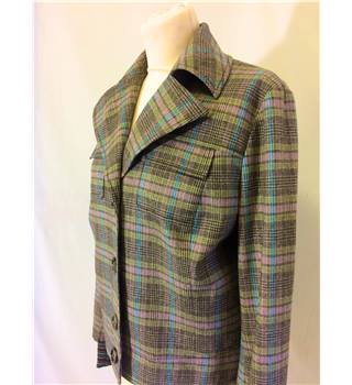 Missoni Size: 14 - Brown, Pink and Blue Chequered Casual Jacket
