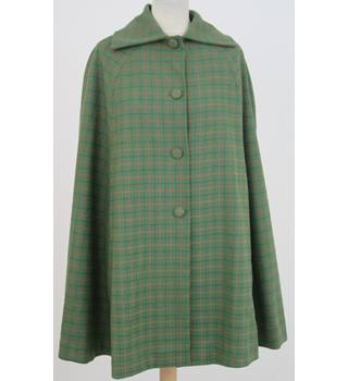 Unbranded Size:S green check 3/4 cape