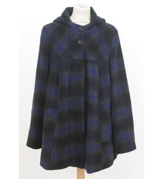 Yours - size: 18, grey, black and purple checked coat