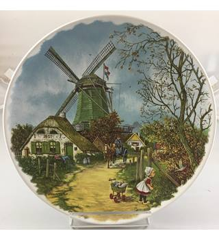 Rare J C Van Hunnik Collection Holland Windmill Plate