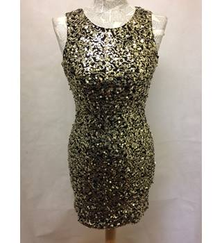 parisian collection - Size: 8 - Metallics - Mini sequined, open back dress