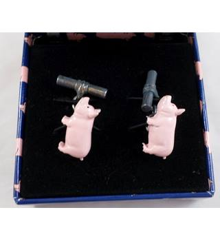 Magnificent Mouchoirs - Pink Pig Cufflinks