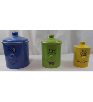 Tradewinds Tableware Funny Faces Cannisters