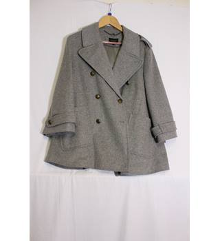 Autograph grey double breasted wool jacket 14 M&S Marks & Spencer - Size: 14 - Grey - Smart jacket / coat
