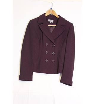 Marks and Spencers plum double breasted jacket 14 M&S Marks & Spencer - Size: 14 - Purple - Casual jacket / coat