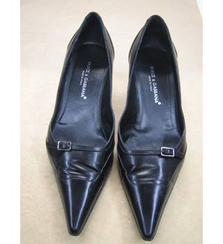 Dolce and Gabbana Black Leather  Court Shoes - size 7 (40) Dolce and Gabanna - Size: 7 - Black - Court shoes