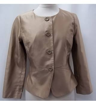 L.K. Bennett - Size: 8 - Beige - Smart jacket - Silk
