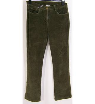 Cotton Traders - Size: 10 - Olive Green - Cord Jeans