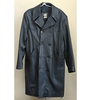 ASL Black Leather Coat - Medium