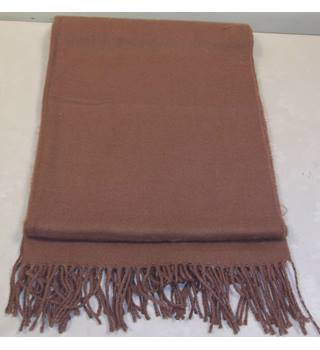 Unbranded - Size: L - Brown - Scarf