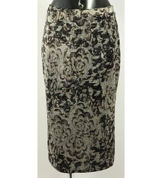 Per Una size 10  Grey and Black Patterned Skirt