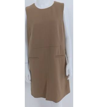 Jaeger Size 12 Camel Beige Wool Blend Dress