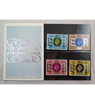 GB 1977 Presentation 6 Packs Year Set Multi-coloured