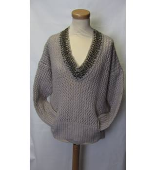 DAY Birger et Mikkelsen Knitted Mohair Taupe Jumper. Size S/M.