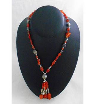 Bead and Charm Necklace