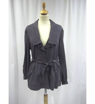 Betty Jackson Black - Size: 12 - Grey - Jacket