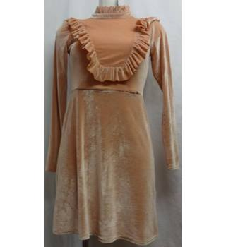 ASOS - Size 8 - Beige with pleated neck Edwardian/Victorian-esque dress