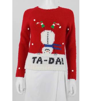 Next Age 11 Years Red Christmas Jumper