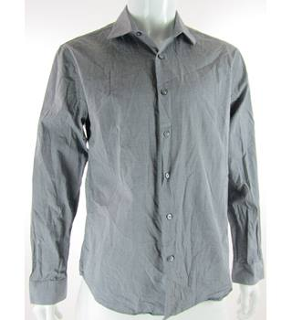 Calvin Klein - Size: L - Grey - Long Sleeved Cotton Shirt