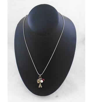 Silver chain Necklace with Charms