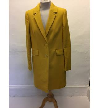 Yellow M&S Per Una Coat- Size: 10