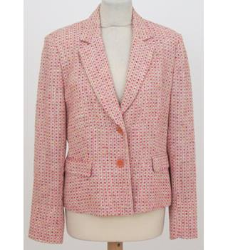 Philippe Adec - Size: 14 - Orange & moss green check jacket