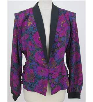 Pierre Cardin Size:10 magenta floral evening jacket or blouse
